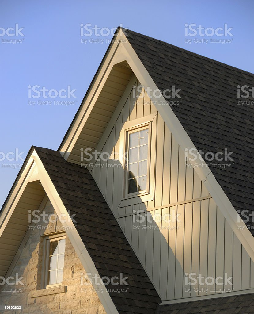 Peaked Roof royalty-free stock photo