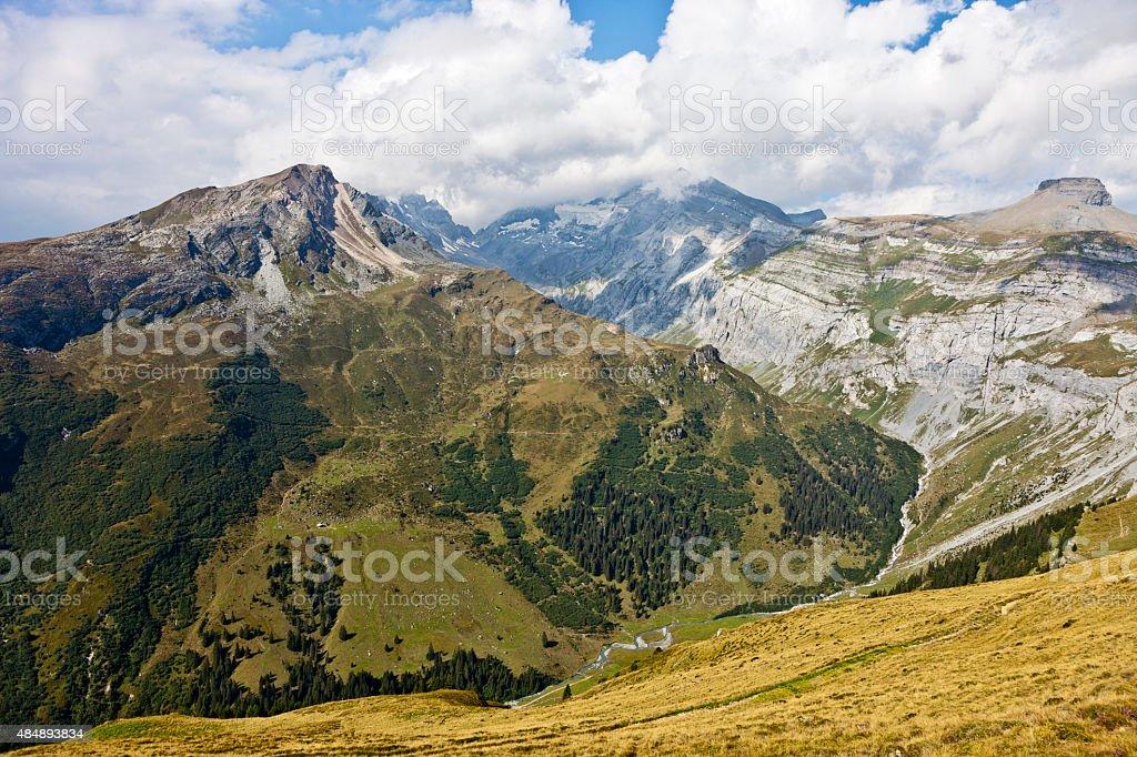 Peaks around Val Frisal stock photo