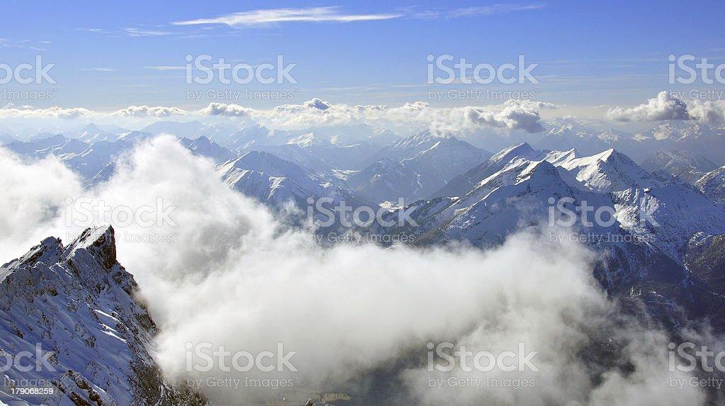 Peaks of Bavarian Alps royalty-free stock photo