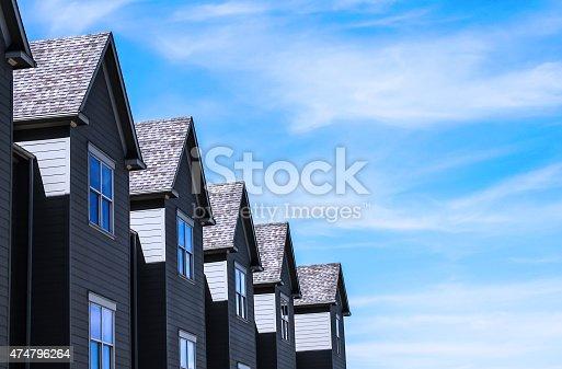 istock peaks of row housing 474796264
