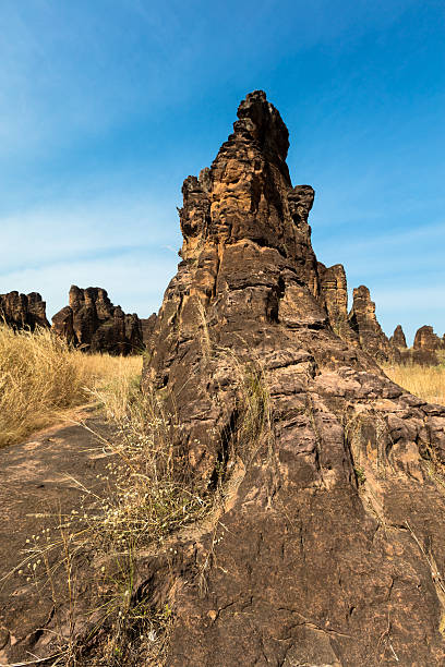 Peaks of Sindou stock photo