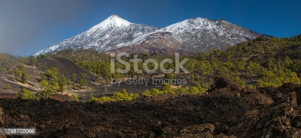 istock Peaks of Teide and Pico Viejo volcanoes 1298702066