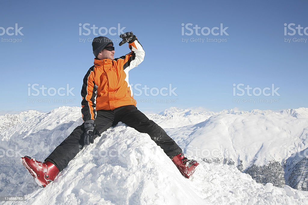 Peaks royalty-free stock photo