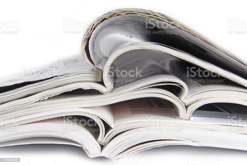 peal of magazines royalty-free stock photo