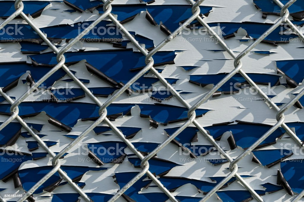 Pealing Paint Fence stock photo