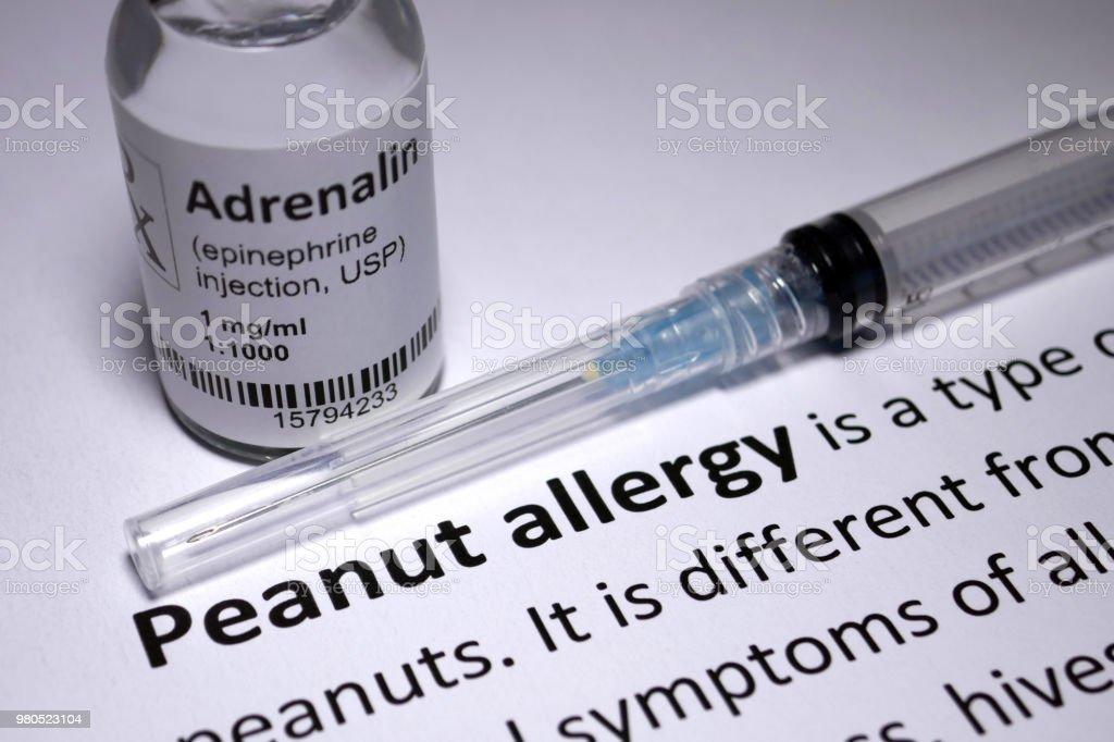 Peanut Allergy anaphylactic shock stock photo