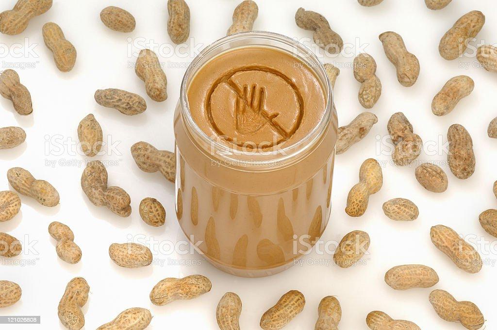 Peanut allergy royalty-free stock photo