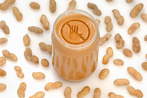 peanut allergy - food allergies stock photos and pictures