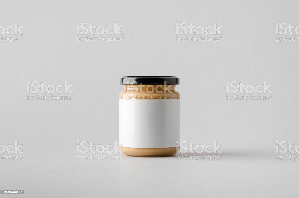 Peanut / Almond / Nut Butter Jar Mock-Up - Blank Label