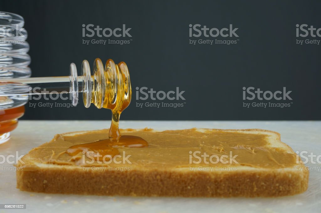 Peanut Butter and Honey stock photo