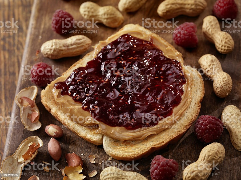Peanut Butter and Jam stock photo