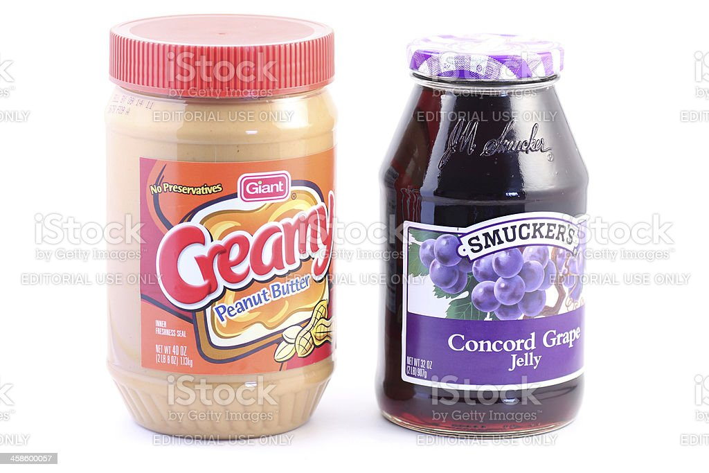 Peanut Butter and Jelly | Generic vs Name Brand royalty-free stock photo