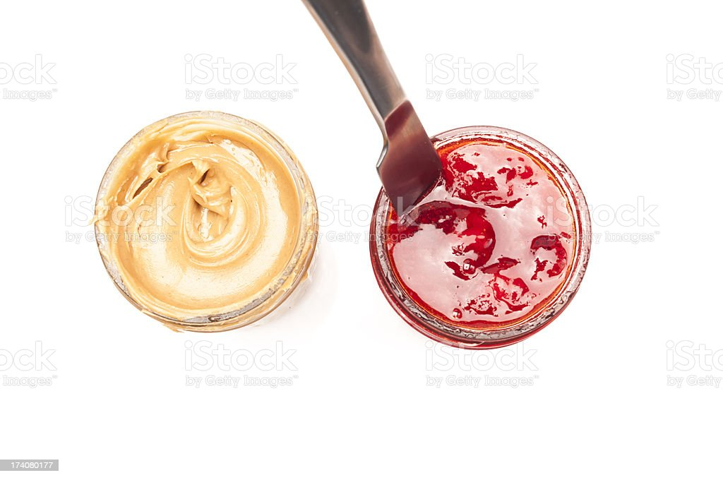 Peanut Butter and Jelly Jars royalty-free stock photo
