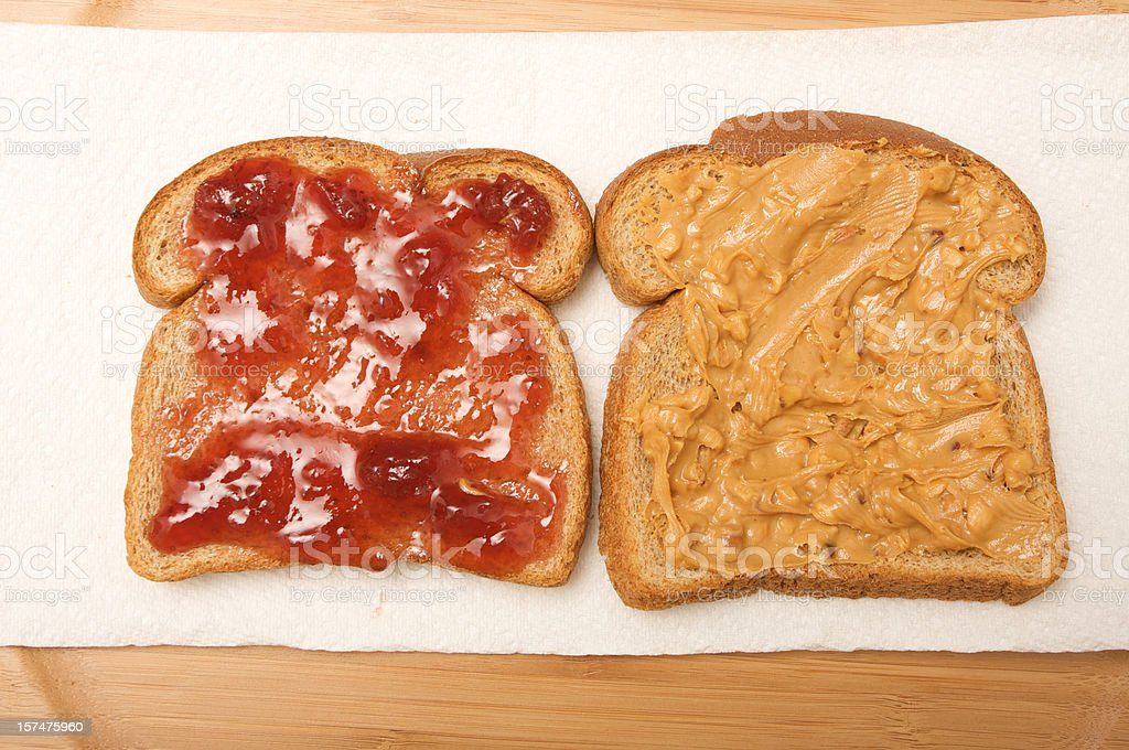 peanut butter and jelly royalty-free stock photo