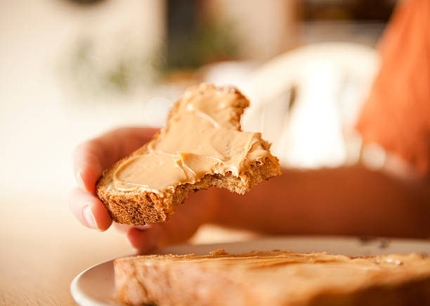 Peanut Butter and Jelly Sandwich Series stock photo