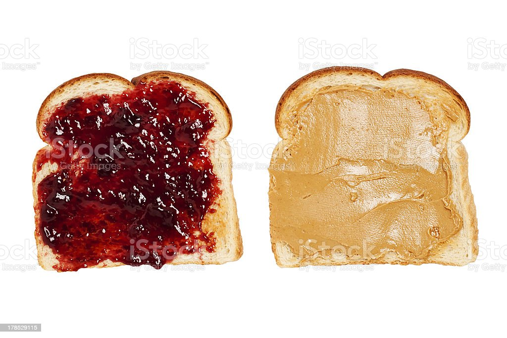 Peanut Butter and Jelly Toast stock photo
