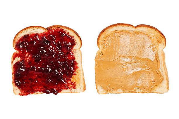 Toast à la confiture et au beurre de cacahouètes - Photo