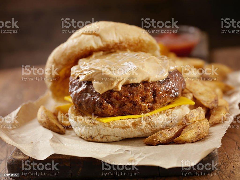 Peanut Butter Burger stock photo