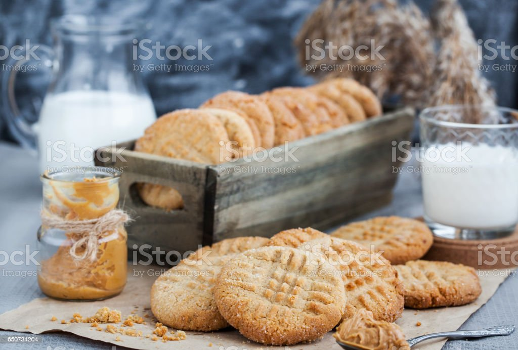 Peanut butter cookies stock photo