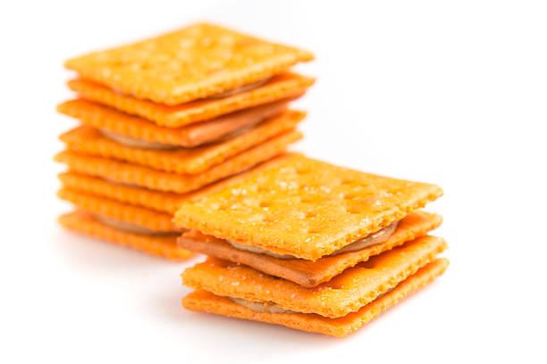 peanut butter crackers - peanutbutter bildbanksfoton och bilder