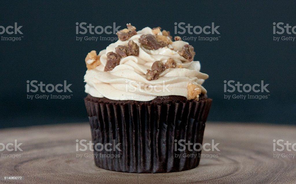 Peanut Butter Cup Cupcake stock photo