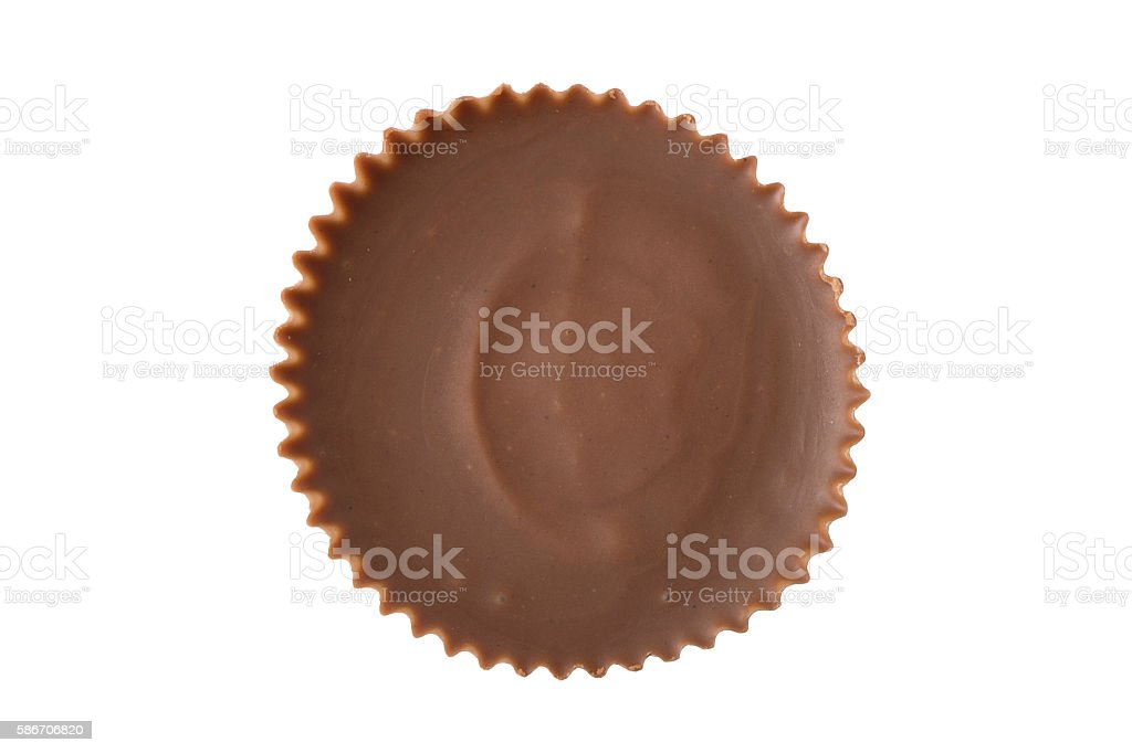 Peanut Butter Cup - Overhead - Foto stock royalty-free di Bianco