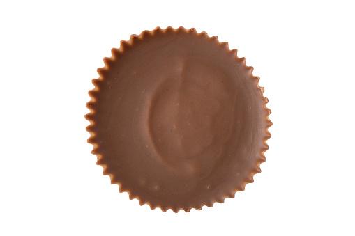 Peanut Butter Cup Overhead - Fotografie stock e altre immagini di Bianco