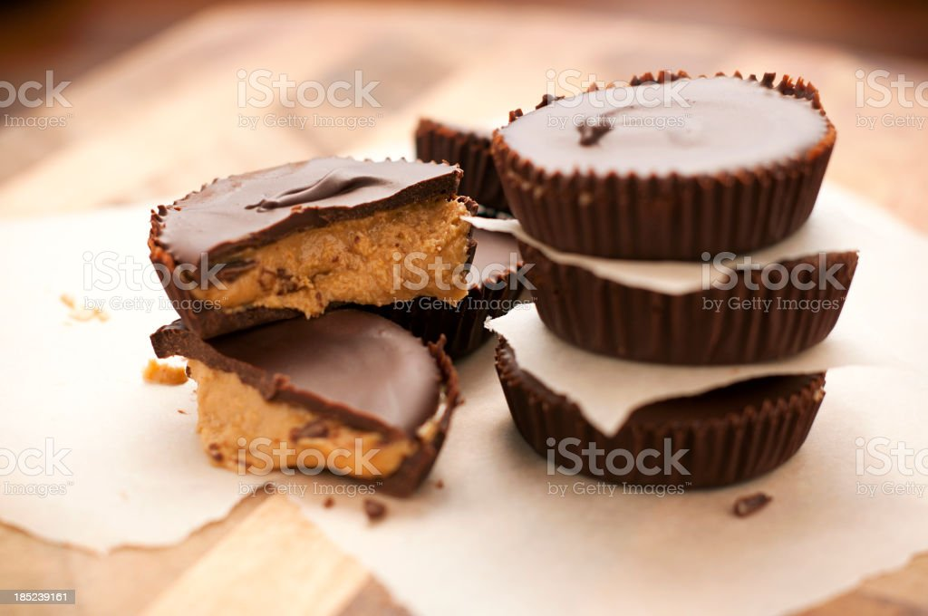 Peanut Butter Cups - Yum stock photo