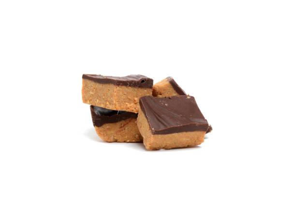 pindakaas fudge - fudge stockfoto's en -beelden
