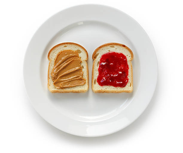 peanut butter & jelly sandwich peanut butter & jelly sandwich jello stock pictures, royalty-free photos & images