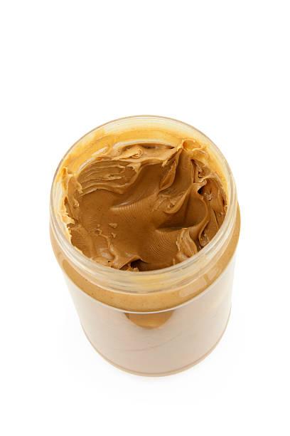 peanut butter open jar - peanutbutter bildbanksfoton och bilder