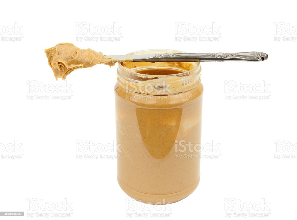 Peanut Butter Open Jar royalty-free stock photo