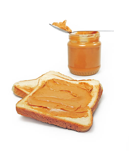 peanut butter - peanutbutter bildbanksfoton och bilder
