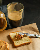 istock peanut butter sandwich, dessert (sweets or snacks, breakfast). food background. top photo 1134304794