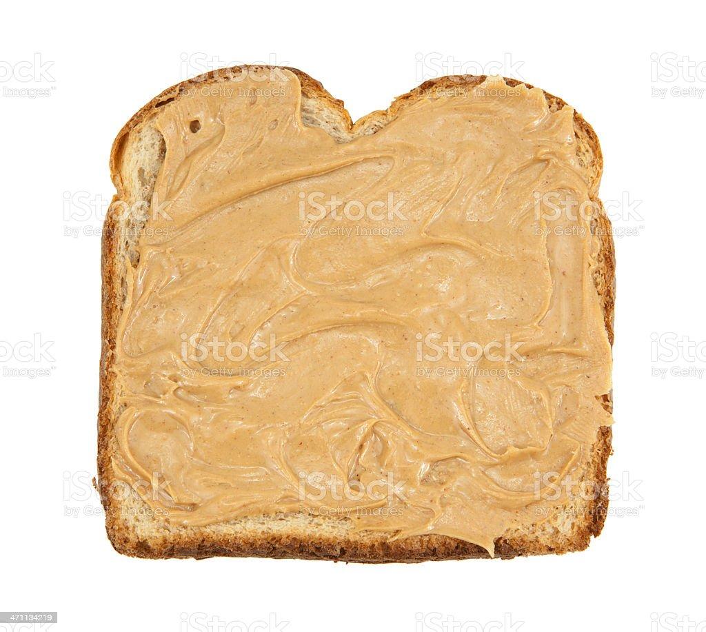 Peanut Butter Sandwich Peanut butter on wheat bread. Bread Stock Photo
