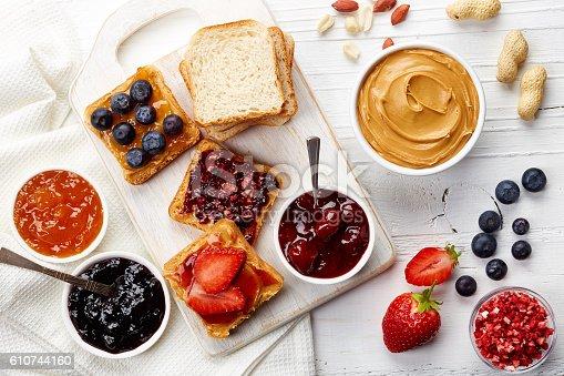 istock Peanut butter sandwiches 610744160