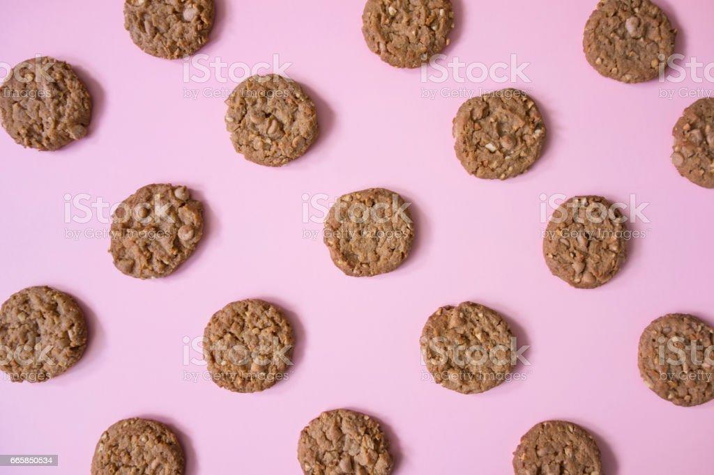 peanut cookies stock photo