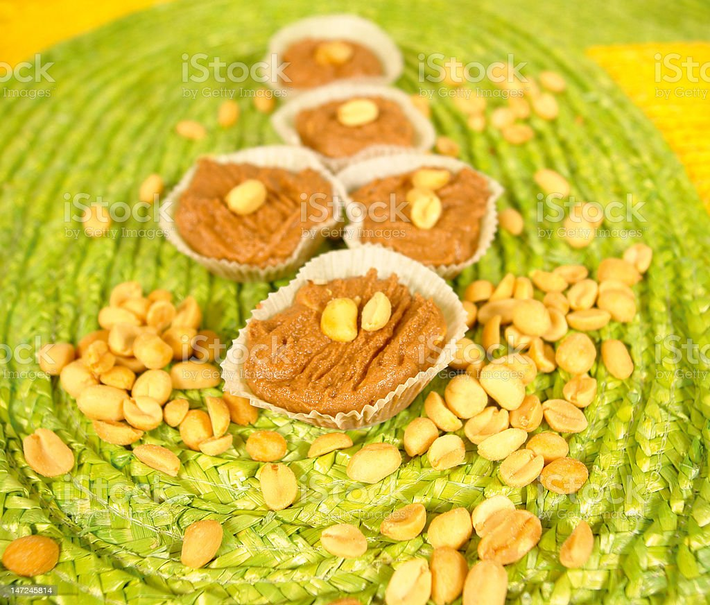 Peanut dessert stock photo