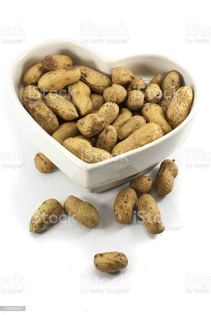 Peanut dry fruit or groundnut (Arachis hypogaea) beans royalty-free stock photo