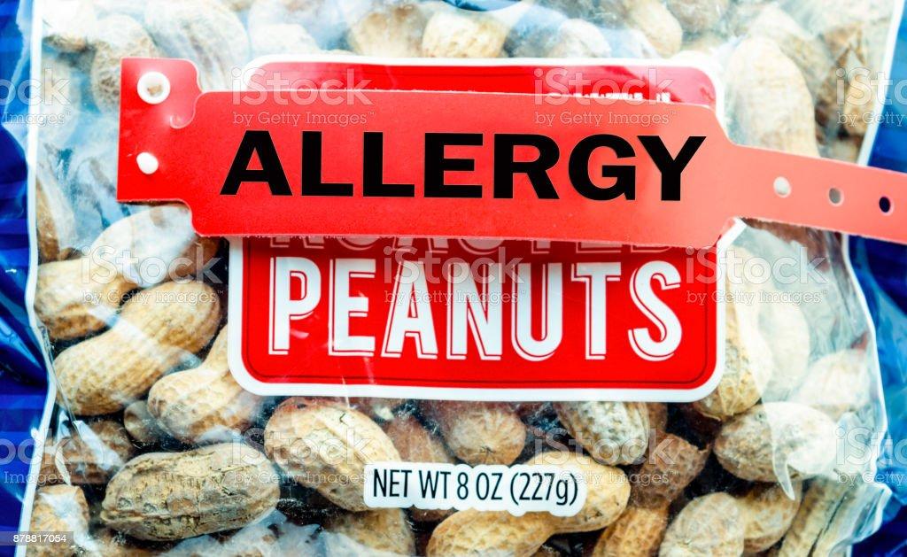 Peanut Food Allergy stock photo