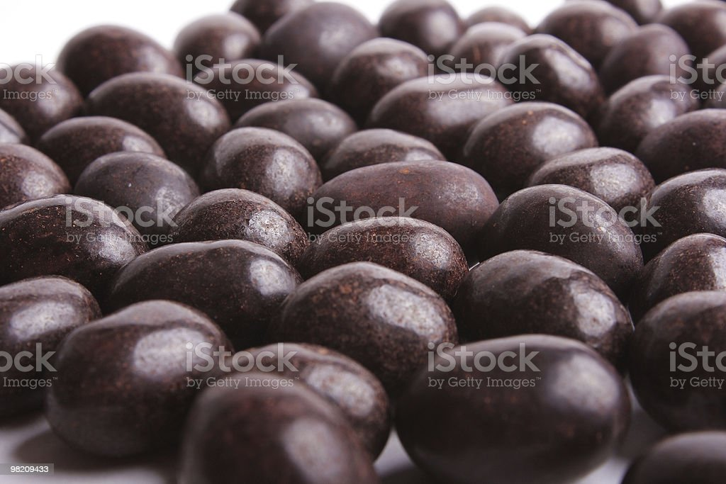 Peanut in chocolate royalty-free stock photo