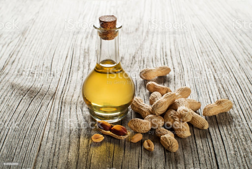 Peanut oil stock photo