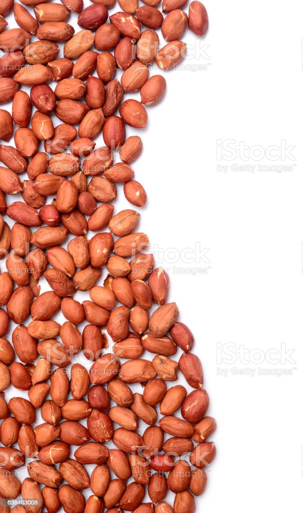 peanut pile closeup stock photo
