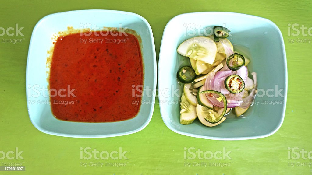 Peanut Sauce for beef sticks royalty-free stock photo