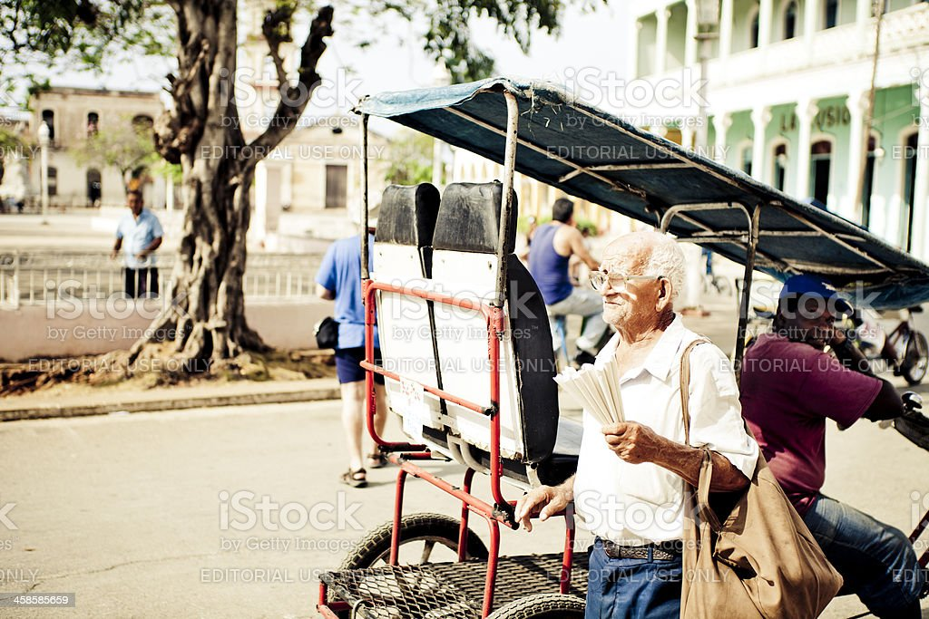 Peanut Seller And Taxi Driver stock photo