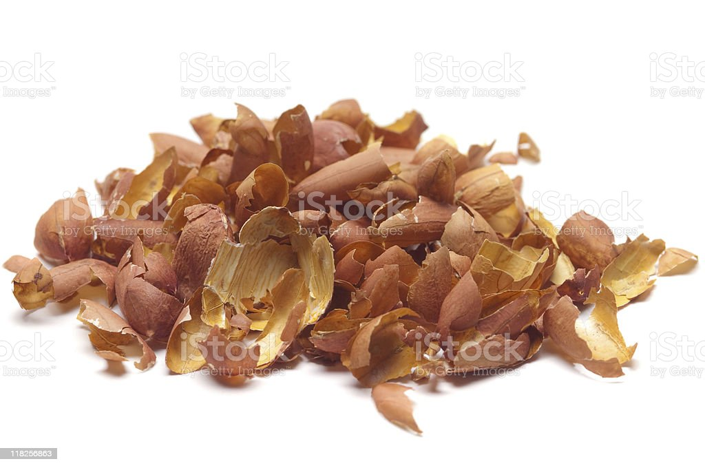 Peanut Skins royalty-free stock photo