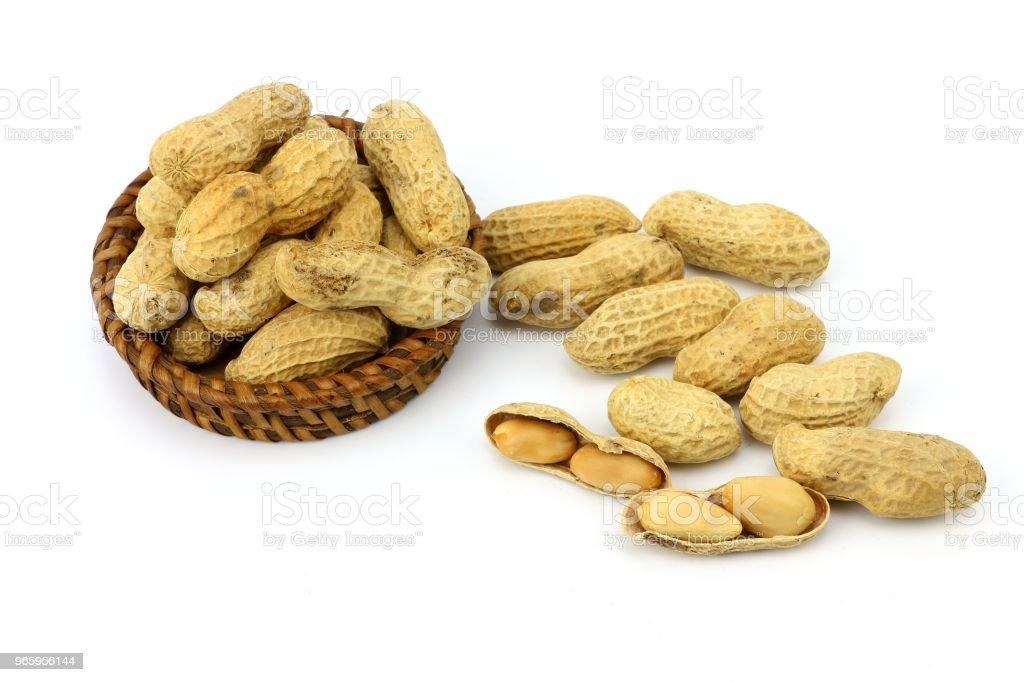 Erdnuss-Snack und Bio-Lebensmittel - Lizenzfrei Ausgedörrt Stock-Foto