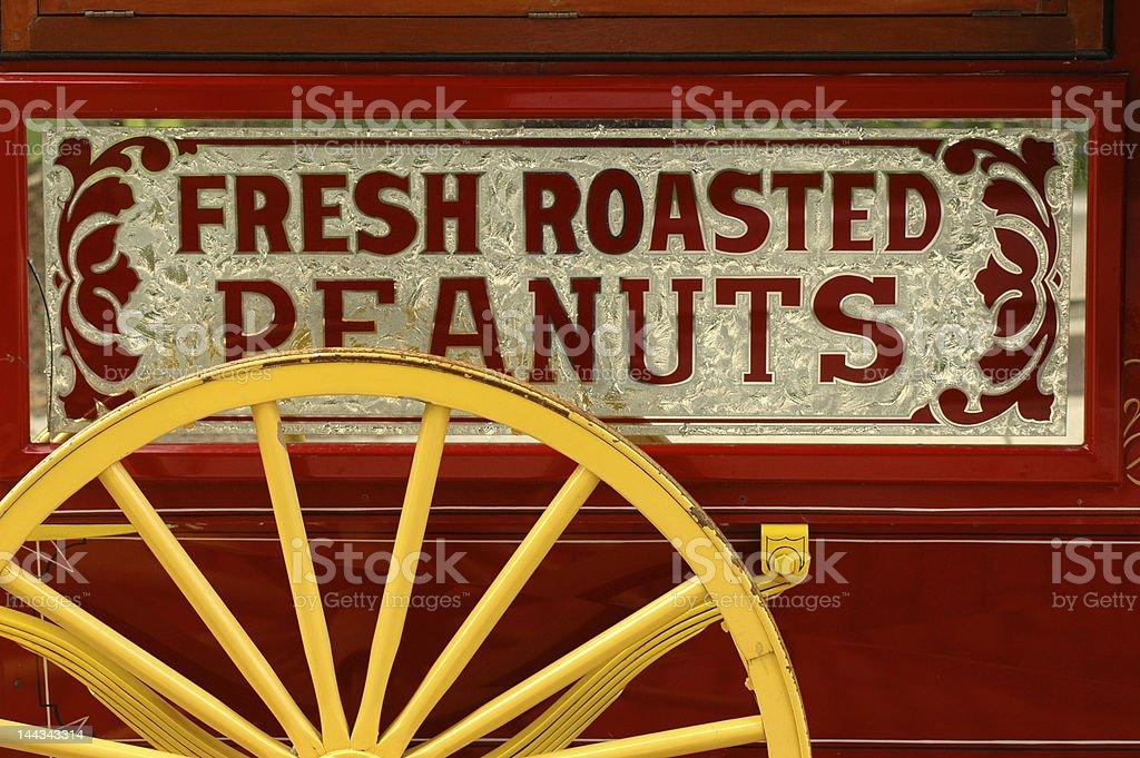 Peanut vendor's cart stock photo