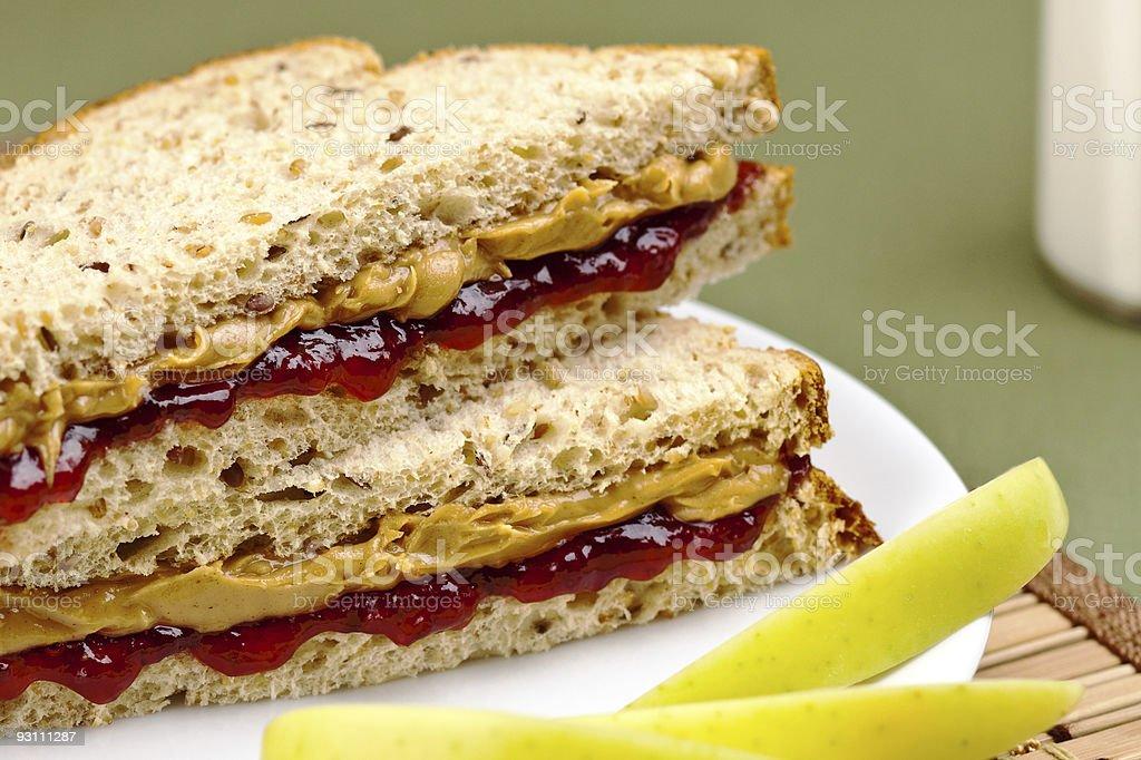 Peanutbutter and jelly sandwich - Royalty-free Amerikan Kültürü Stok görsel