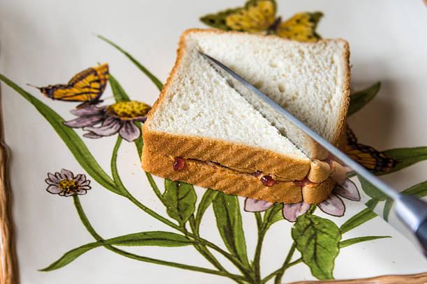 peanutbutter bread with jelly - peanutbutter bildbanksfoton och bilder